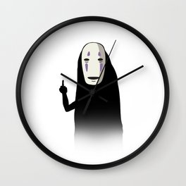 No Face and a Bird Wall Clock