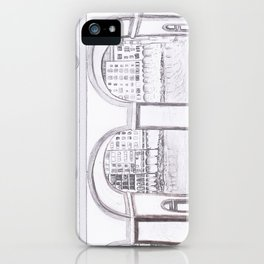 Florence River Drawing iPhone Case
