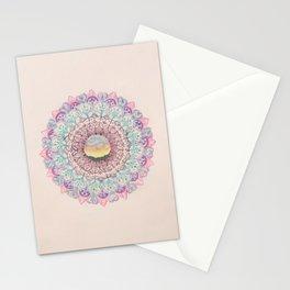 Watercolour Sunset Mandala Stationery Cards