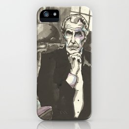Portrait of Vincent Price in the Laboratory iPhone Case