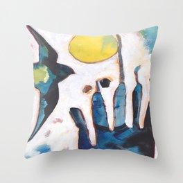 Bird and Hand Throw Pillow