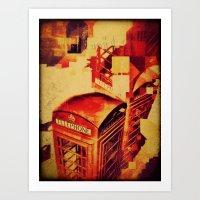 telephone Art Prints featuring Telephone  by Ukridge