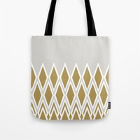 crown Tote Bags featuring crown by lorelei art design