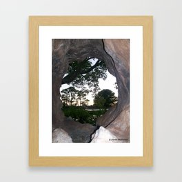 Circle in the Rock Framed Art Print