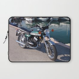 Classic Two Stroke Motorcycle Laptop Sleeve