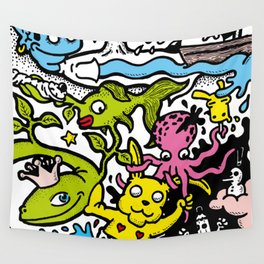 The yellow rabbit Wall Tapestry