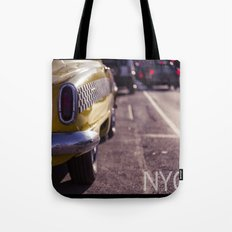 A Yellow Cab  Tote Bag