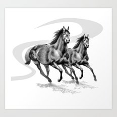 Master Hand (USA) Thoroughbred Stallion Art Print