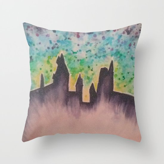 Hogwarts II Throw Pillow