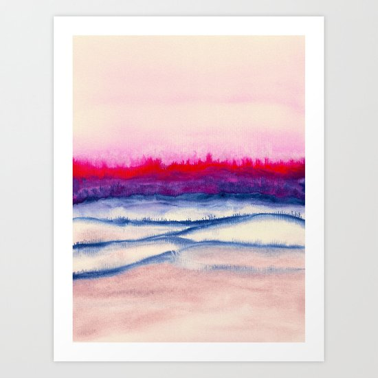 Watercolor abstract landscape 29 Art Print