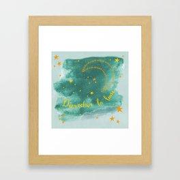 Blue moonlight Framed Art Print