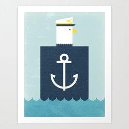 Eagle Captain Art Print