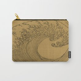 Vintage Golden Wave Carry-All Pouch