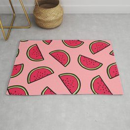 Watermelon Pattern in Pink Rug