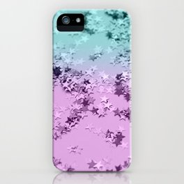 Mermaid Lady Glitter Stars #3 #decor #art #society6 iPhone Case