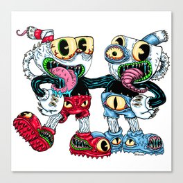 Monster Cups Canvas Print