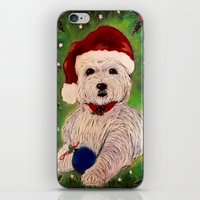 westie iPhone & iPod Skins featuring A Very Westie Christmas by Heidi Clifton