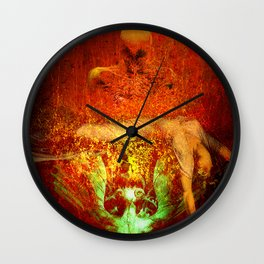 Demonic sacrifice Wall Clock