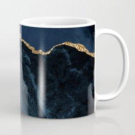 Beautiful Sapphire And Gold Marble Design Coffee Mug