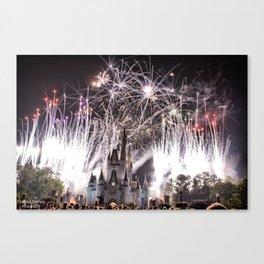 Disney at Night Canvas Print