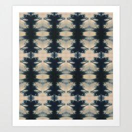 Winged Shibori Art Print