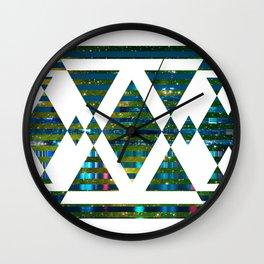 White Skyline Wall Clock