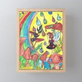 Rainbow Drops Framed Mini Art Print