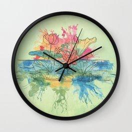 Lotus Splash Wall Clock