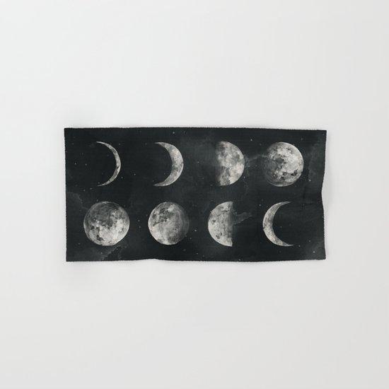 Watercolor moon phases Hand & Bath Towel