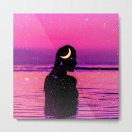 She is shining like the moon and stars  Metal Print