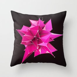 Nik Abstract 3D Throw Pillow