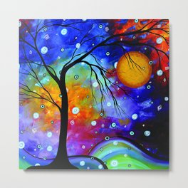 """Winter Sparkle"" Original Whimsical Contemporary Painting, Art by Megan Duncanson MADART Metal Print"