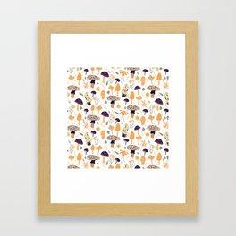 Mushroom Whimsy - Brights Framed Art Print