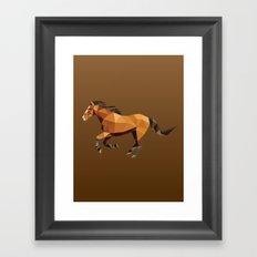 Geometric Horse Framed Art Print