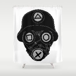 PlayStation Mask Shower Curtain