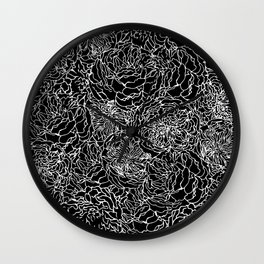 SPRING IN WHITE AND BLACK Wall Clock
