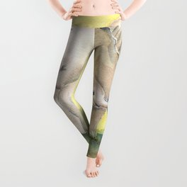 Colorful Mom and Baby Elephant 2 Leggings