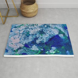Imagined Ocean View From Above Rug