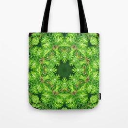 Spring green Canadian Hemlock mandala Tote Bag