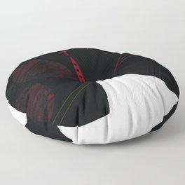 black horse Floor Pillow