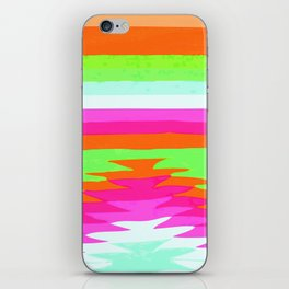 NEON SURF GIRL iPhone Skin
