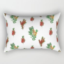 Beautiful Australian Native Floral Pattern Rectangular Pillow
