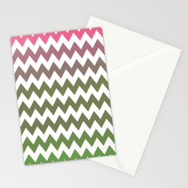 Pink Roses in Anzures 3 Chevron 2 Stationery Cards