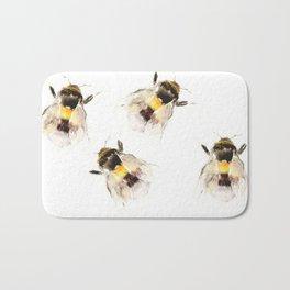 Bumblebee, fuzzy bee Bath Mat