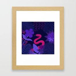 Snake in the Jungle Framed Art Print