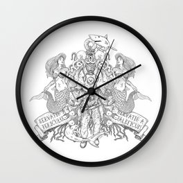 """""""Save us from danger, save us from evil"""" - Black Wall Clock"""