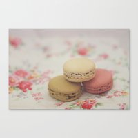 macarons Canvas Prints featuring macarons by Beth Retro