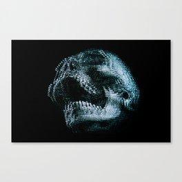 Analogue Glitch Skull Canvas Print
