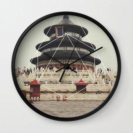 Spiritual Buddha Temple - Geometric Photography Wall Clock