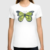 lime green T-shirts featuring Lime Butterfly by Cat Coquillette